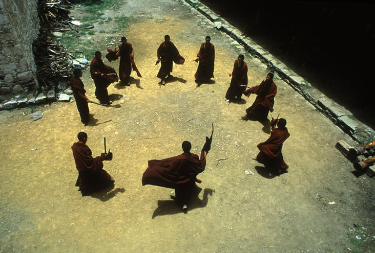 Monks Dancing, Tibet