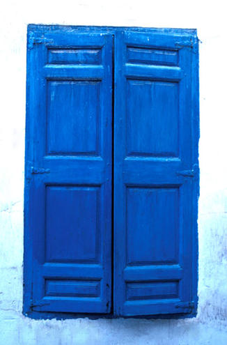 Blue Shutters, Fez, Morocco